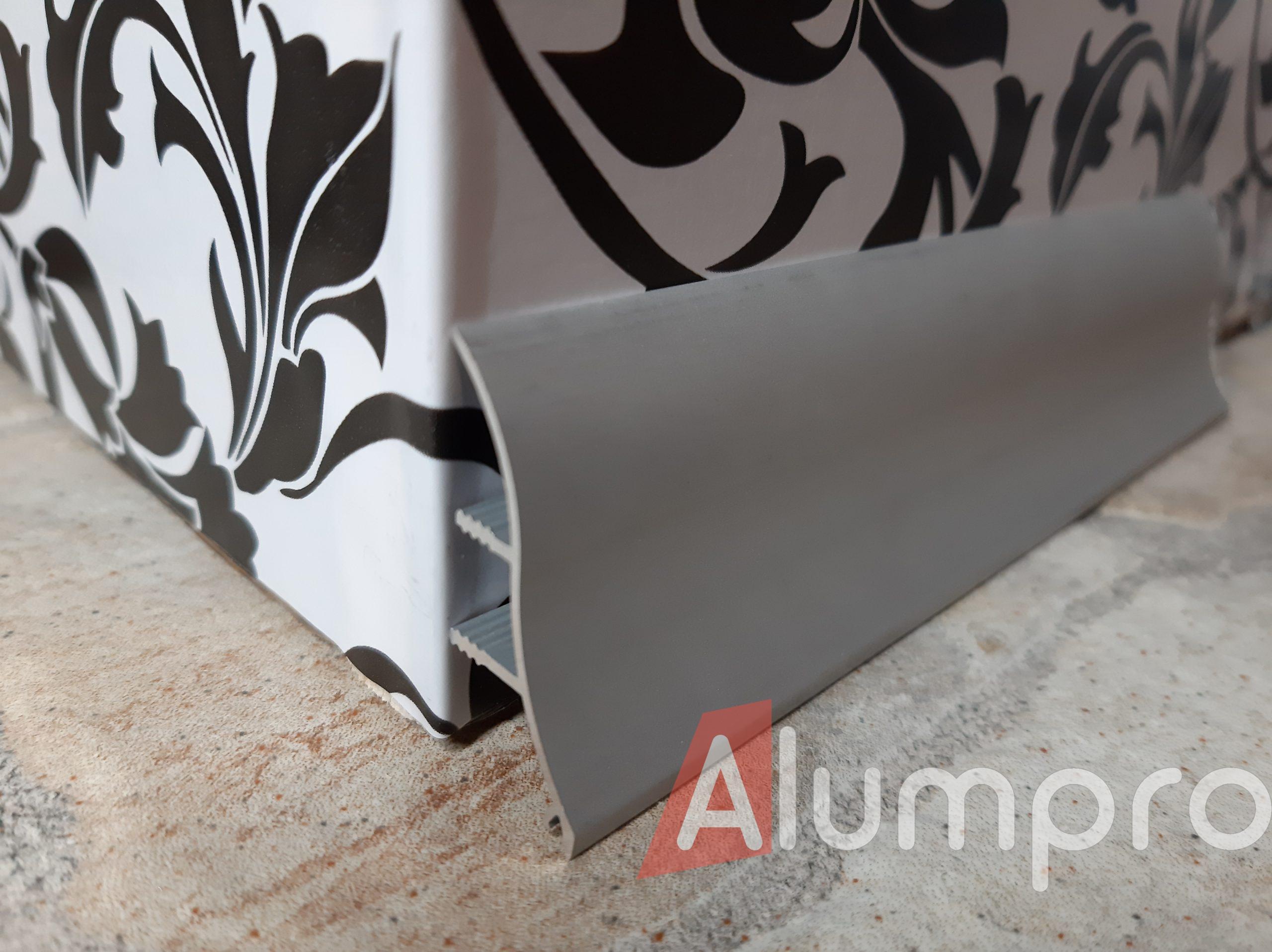 Плинтус алюминиевый для столешниц
