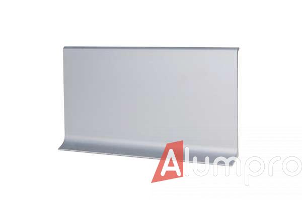 Плинтус алюминиевый накладной 80 мм