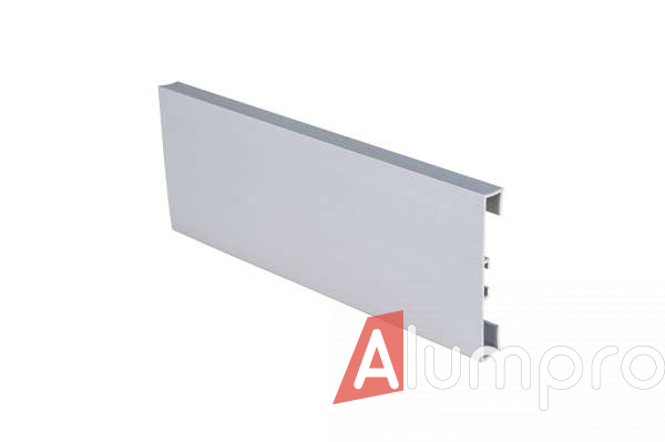 Плинтус алюминиевый накладной прямоугольный 60 мм