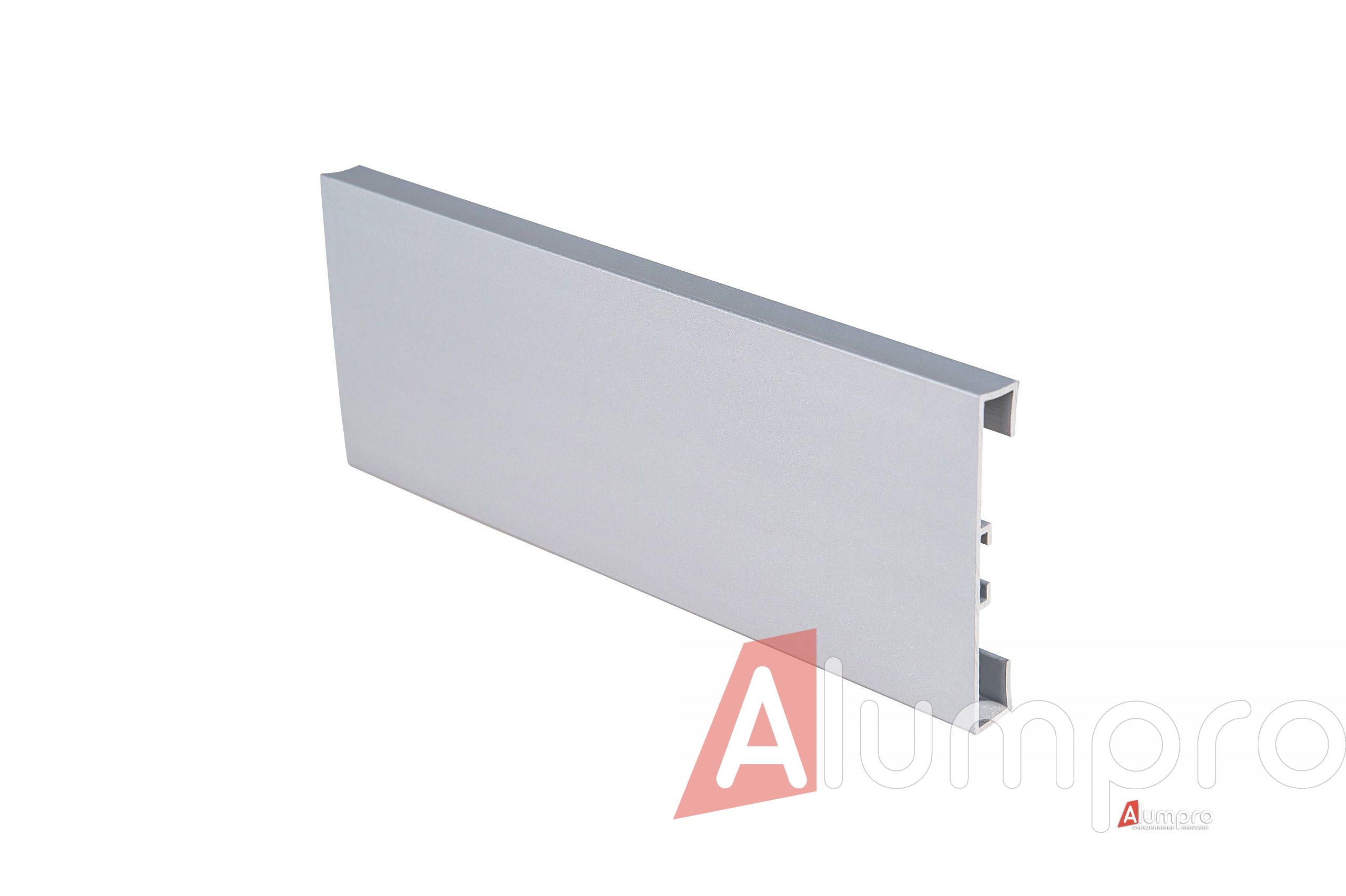 Плинтус алюминиевый накладной прямоугольный