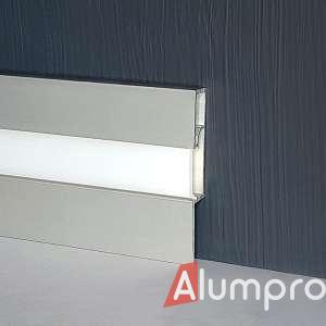 Алюмінієвий плінтус з LED-підсвіткою P89LED