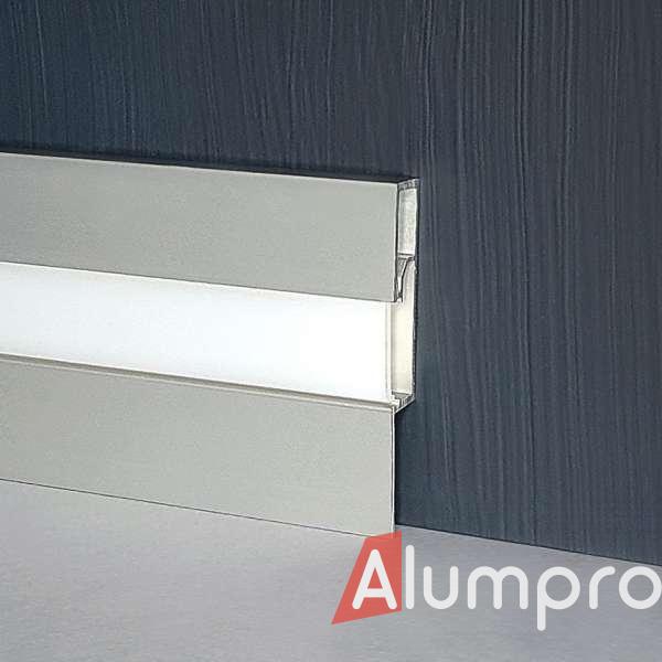 Алюминиевый плинтус с LED-подсветкой P89LED