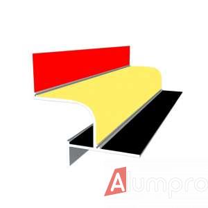 Алюминиевый профиль теневого шва 201 крашенный